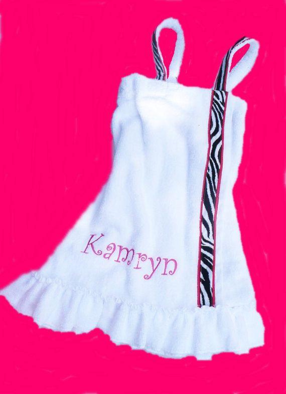 Hey, I found this really awesome Etsy listing at https://www.etsy.com/listing/187283449/zebra-towel-spa-wrap-monogram-kids