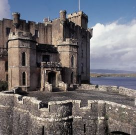 Dunvegan Castle on Isle of Skye, Scotland, oldest continuously inhabited castle in Scotland & home of Clan MacLeod.