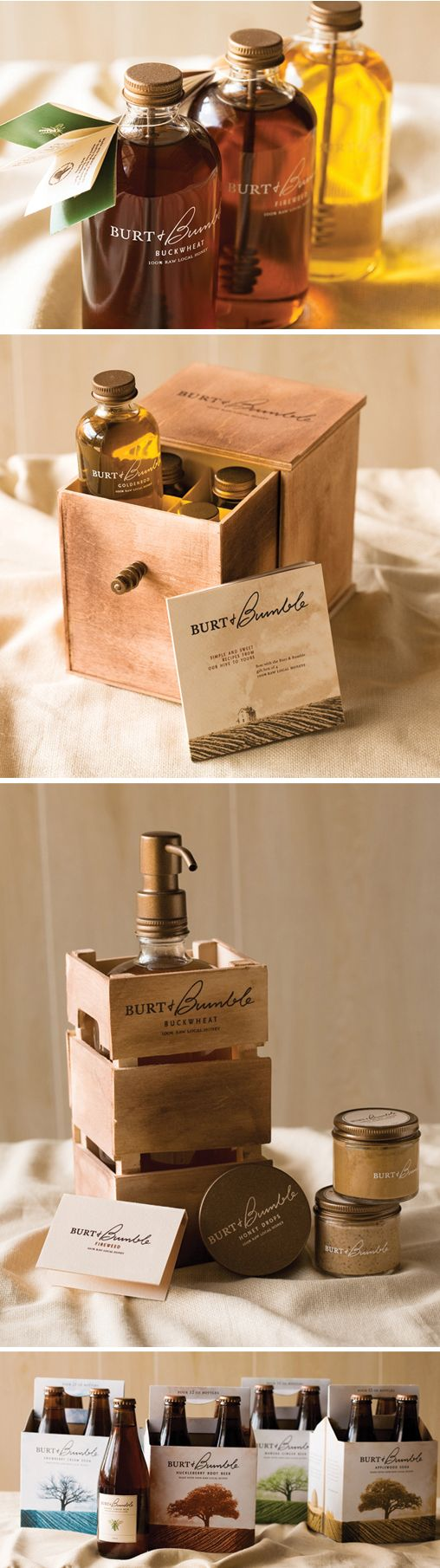 burt + bumble honey products design #packagedesign #design
