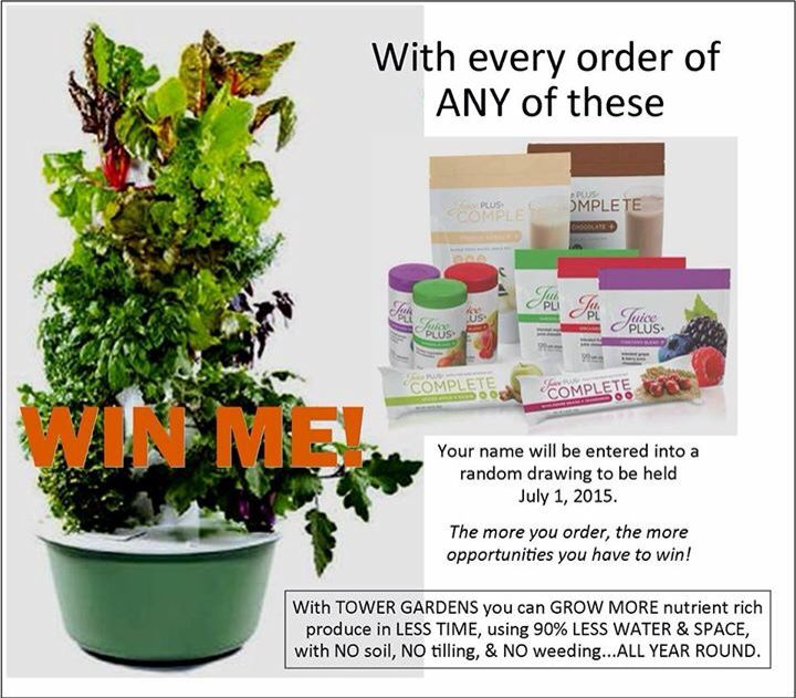 Order Any Juice Plus Product For A Chance To Win A FREE Tower Garden. |  Tower Garden | Pinterest | Gardens