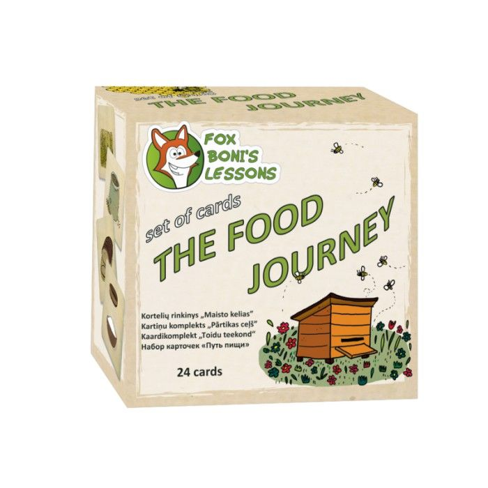 Karty Podróże jedzenia - Lekcje Liska Boni // The Food Journey - Fox Boni's Lessons