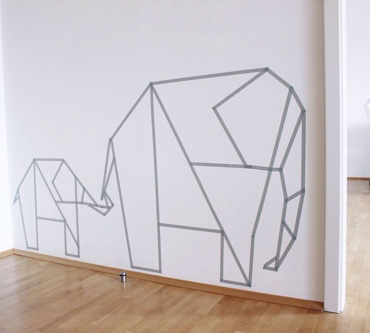 Washi Tape Wall Art Elephants. Tayce Annette Henderson