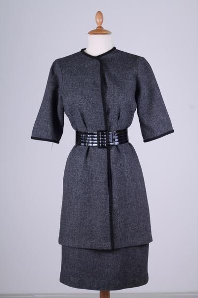 Vintage tøj - Grå spadsererdragt 1960. S - Vintage kjoler fra 1960'erne - Vintage Divine - 1