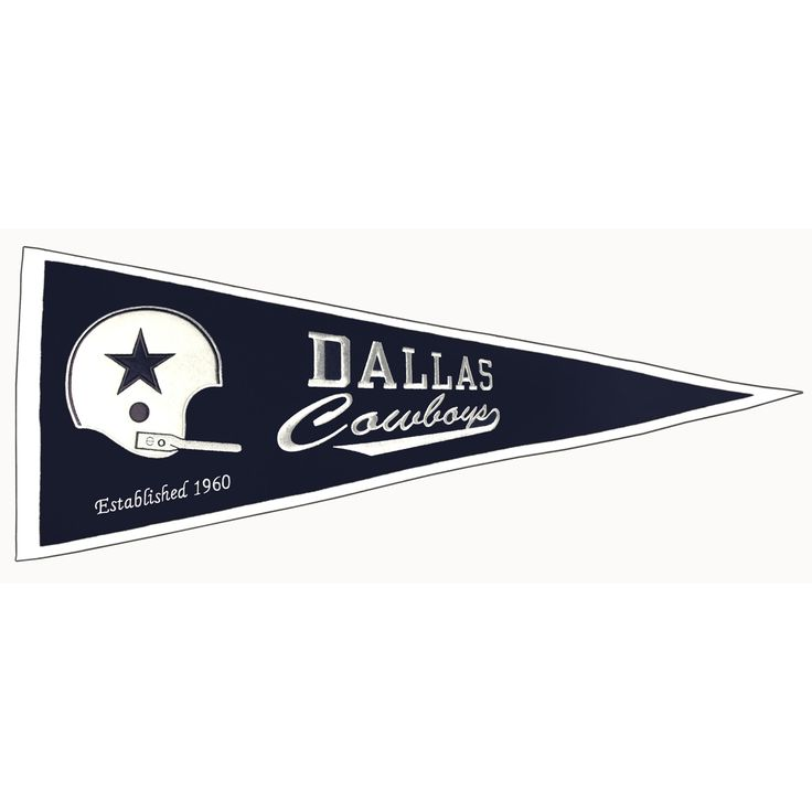 "This beautifully embroidered pennant is 32"" x 13"" and is retro-designed to capture the look and feel of a bygone era. A ""Must Have"" for all Dallas Cowboys super-fans."