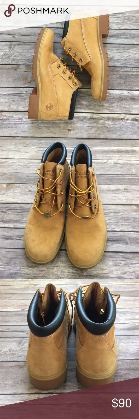 Authentic Timberland Boots EUC Authentic Timberland Nellie Boot Size 9 1/2. Bought them but never left the house wearing them. There are a few scuffs. Definitely in excellent condition! Super cute boots. Please feel free to ask any questions or send me a reasonable offer! Timberland Shoes