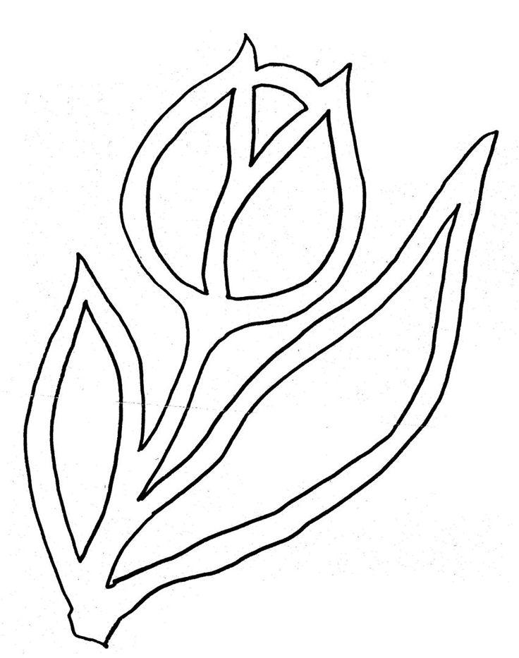 tulipán vystrihovanie