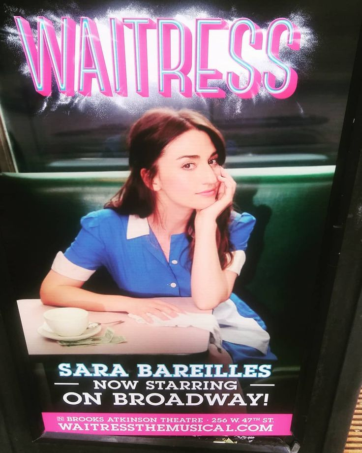 One of the many great things about NYC?  Sara Bareilles WAITRESS posters at every turn! \0/ #sarabareilles  #NYC #Broadway  #waitress  #waitressmusical