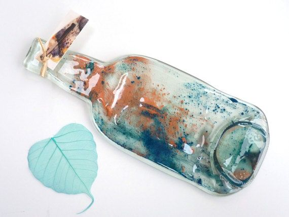 Bottiglia fuso cucchiaio resto riciclato di KilnFiredArt su Etsy