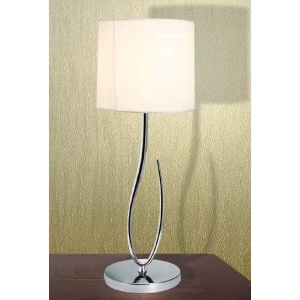 Πορτατίφ Μοντέρνο με λευκό καπέλο 1φωτο KARMA - Πορτατίφ Μοντέρνα HomeLighting - Eshop Electric