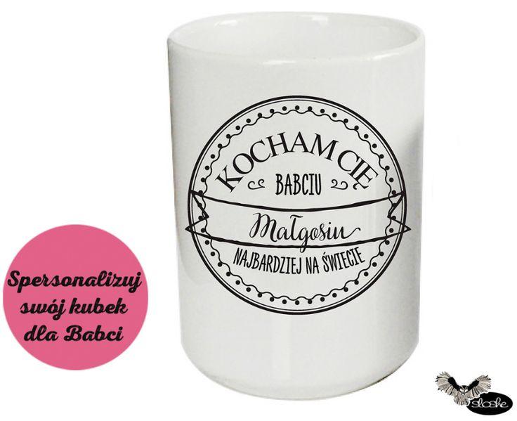 Spersonalizuj swój kubek ceramiczny 450/330ml dla Babci