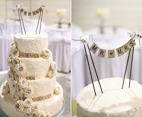 Love the idea of incorporating our names into the cake in scrabble letters to match the place names. Not sure if it would look too much with the Lego cake toppers though?