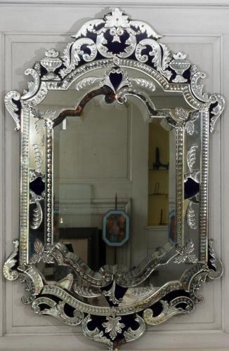 ~ Venetian Glass Mirror, c.1920 ~ bidsquare.com