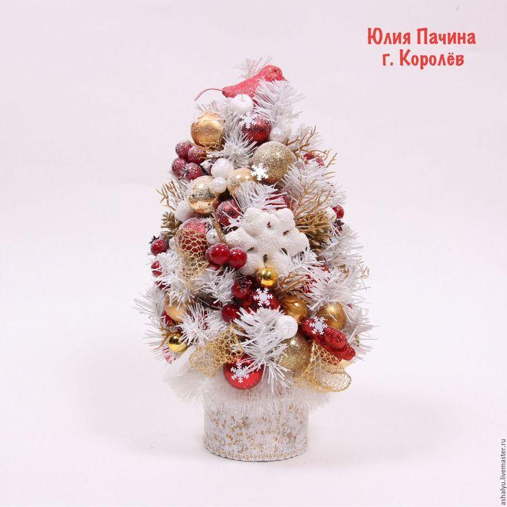 """Купить Ёлочка новогодняя """"Белая"""" - белый, елочка новогодняя, елочка ручной работы, елочка из конфет"""
