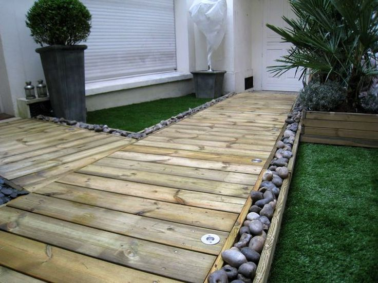 153 best Terrasse images on Pinterest Garden deco, Backyard ideas - comment poser des lames de terrasse