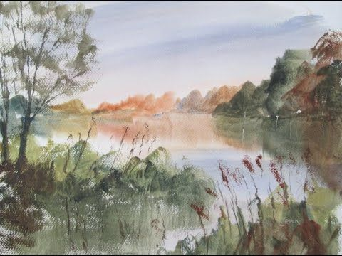 Landscape painting from a photograph
