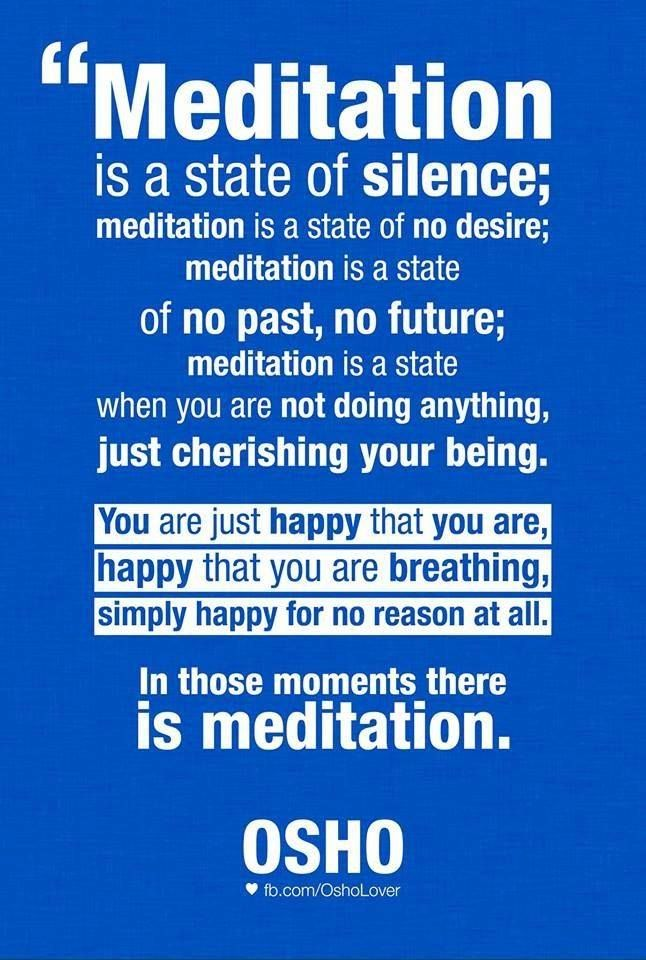 "Divine Spark:  ""#Meditation is a state of silence..."""