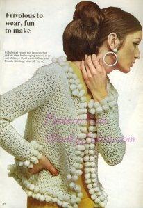 vintage crochet bobble jacket (link to pattern)