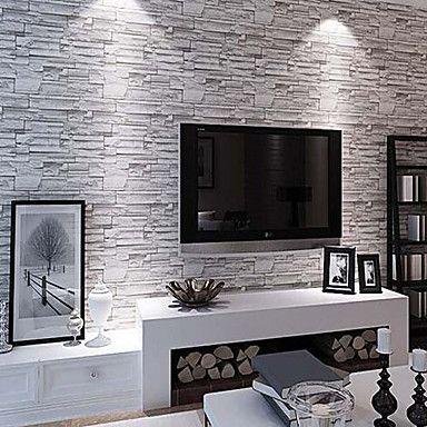 Modern 3D Brick Pattern Wallpaper 0.53m*10m Wall Covering PVC/Vinyl Wall Art