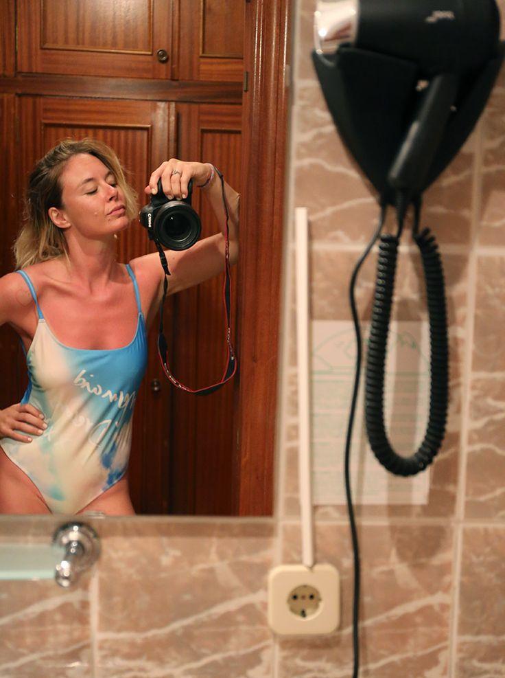 Selfie - hotel room - swimsuit