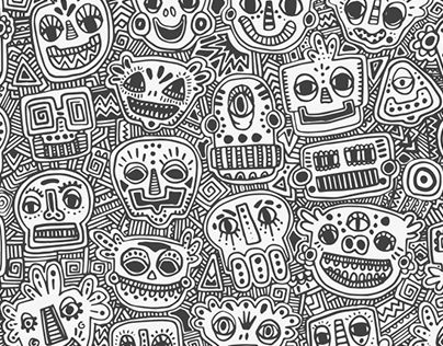 "Check out new work on my @Behance portfolio: ""Character pattern"" http://be.net/gallery/37521417/Character-pattern"