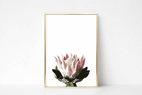 Protea Printable Flower Wedding Inspiration Poster INSTANT DOWNLOAD