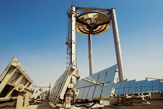 The Beam Down Tower in Masdar City is a fascinating experiment in concentrated solar power. How it works: http://pops.ci/119Xoxv