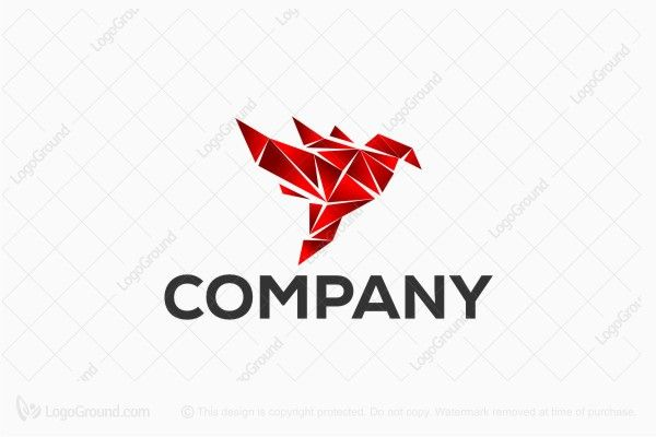 Logo for sale: Bird Paper Art Logo
