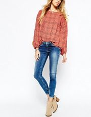 Pepe Jeans Ankle Skinny Jeans With Zips