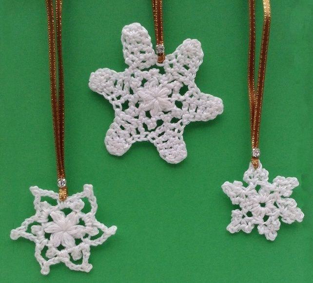 Crochet Christmas Stars set 3 £6.00