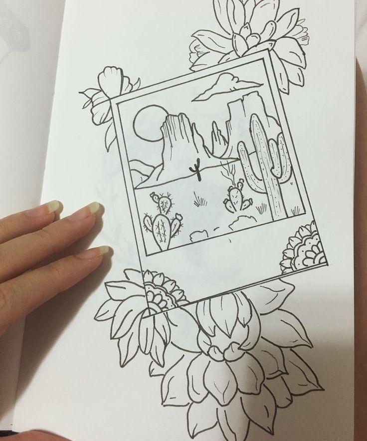 Kaktus Polaroid Zeichnung – #dessin #Kaktus #Polaroid #Zeichnung