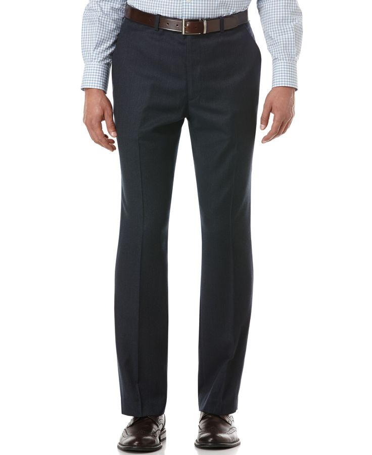 Perry Ellis Portfolio Travel Luxe Slim-Fit Dress Pants
