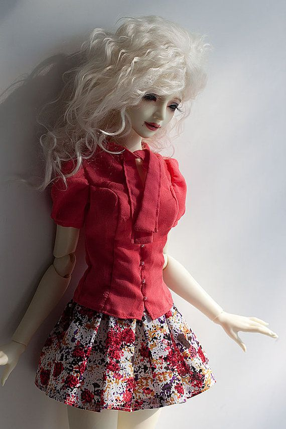SD BJD Clothes  Pink Summer set for SD16 Girl by Nulizeland #bjd #abjd #bjdclothes #bjdfashion #souldoll #souldollzenith #casual #bjdsewing #dolls #nulizeland