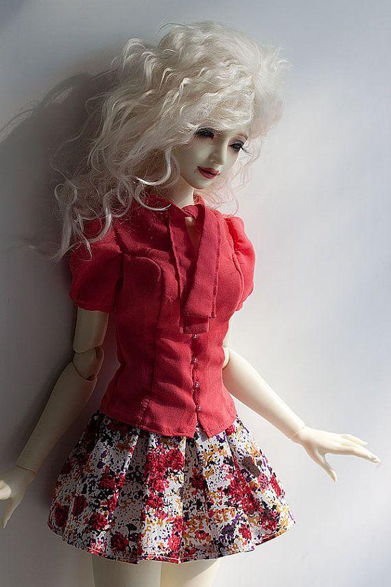 SD BJD Clothes  Pink Summer set for SD16 Girl by Nulizeland #bjd #abjd #bjdclothes #bjdfashion #souldoll #souldollzenith #casual #bjdsewing #dolls #nulizeland