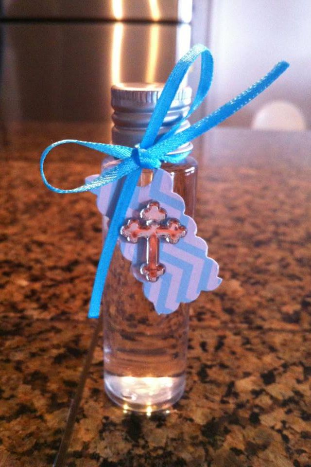 Baptism favor (holy water)chevron  By Super Glam Party Decorations Like us on FB :) http://www.facebook.com/superglampartydecor