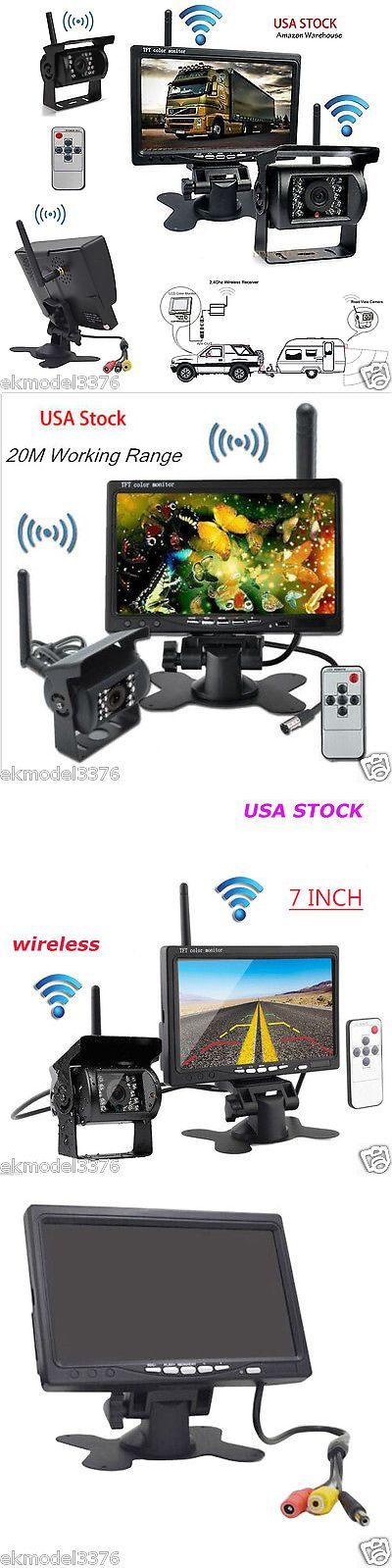 Rear View Monitors Cams and Kits: 7 Car Rear View Monitor + Wireless Backup Camera And Antenna For Truck Trailer -> BUY IT NOW ONLY: $68.98 on eBay!
