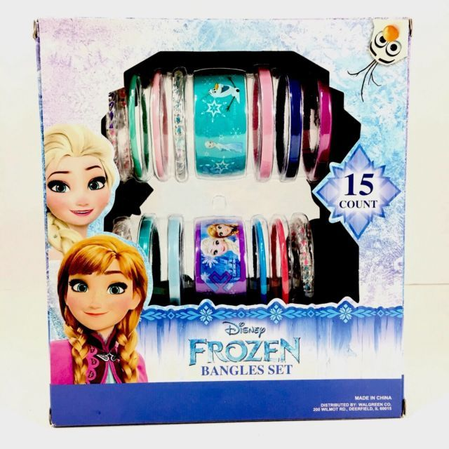 Disney Frozen Jewelry Bangle Set 15 Count Ages 3+ NEW Assorted Styles & Colors | eBay