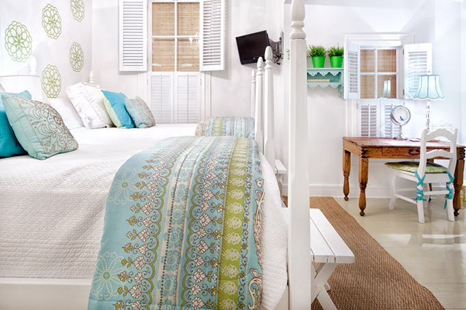 just beautiful! - love that duvet cover. ad the chair, and lamp, and all the white!! lovely.
