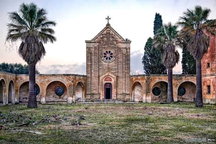 Lecce, Italy--Ghost town: Monteruga, Salento, Italy - The abandoned church