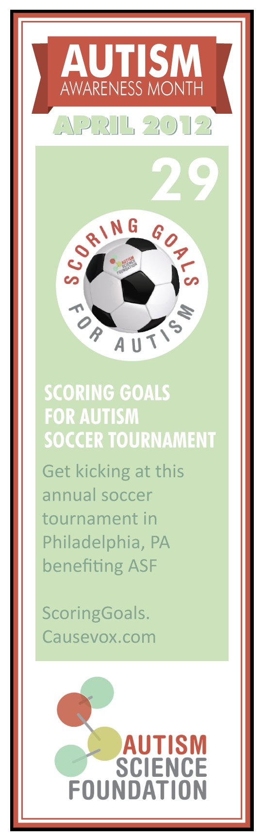 Today is the Scoring Goals to Autism soccer tournament in Philadelphia, PA. Make last minute pledge to support autism research at www.scoringgoals.causevox.com!  #autism #soccer #fitness #event #autismawarenessmonth