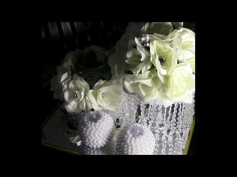 DIY: Three Piece Pearls and Crystals Center Piece DIY Wedding Series Week 3 - YouTube