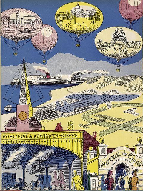 Travel Fantasia,1947. By Edward Bawden