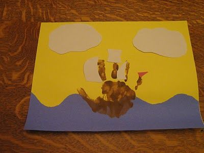 Almost Unschoolers: Hand Print Mayflower Craft