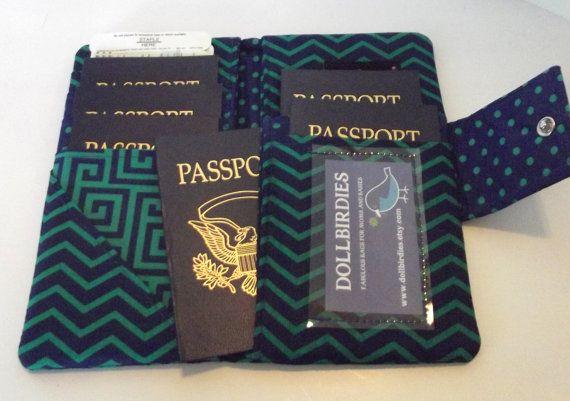 Family Passport Wallet https://www.etsy.com/listing/163700462/dollbirdies-family-boarding-pass
