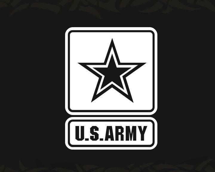 US Army Star Decal Vinyl Sticker Car Window Wall Logo Military Mom Wife Son Dad