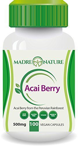 Organic Acai Berry Supplement  500mg X 100 Capules Vegan  Amazon Rainforest  Glutenfree  NonGMO 1Pack * Be sure to check out this awesome product.