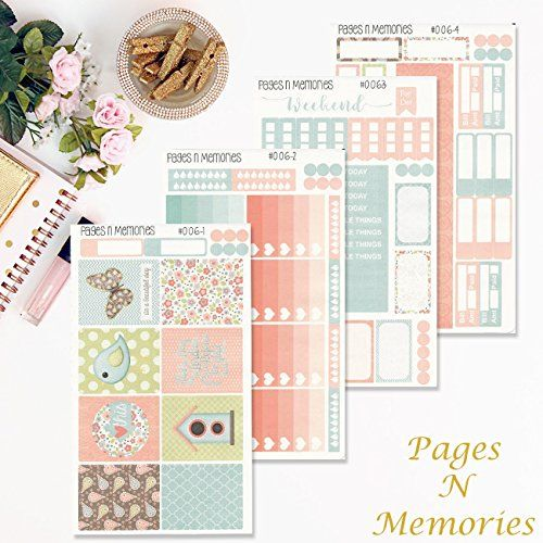 This is the Day Deluxe Weekly Planner Sticker Kit for Erin Condren Life Planner/ Functional Stickers/ Happy Planner/ Personal Planner #006