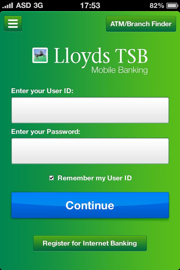 Lloyds TSB - iOS Application by Alex Strasman, via Behance