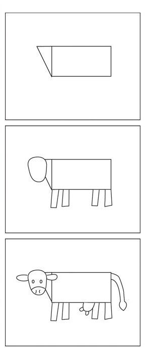 koe zelf tekenen