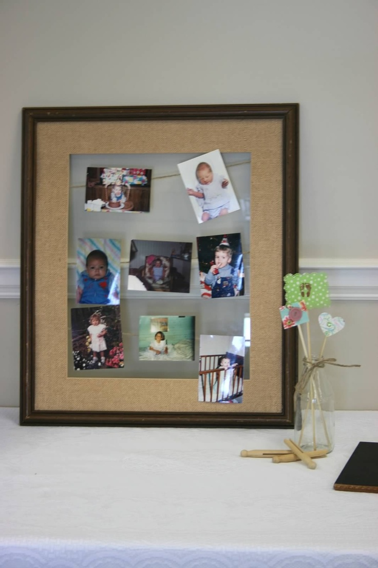 picture frame shabby chic for baby shower shabby chic baby shower