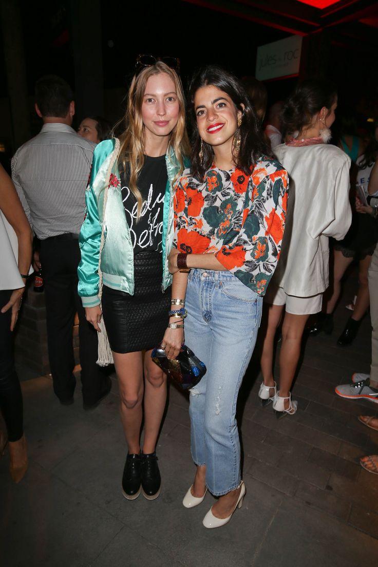 Leandra Medine of Man Repeller with model Chelsea Cunningham during RESORT After Dark